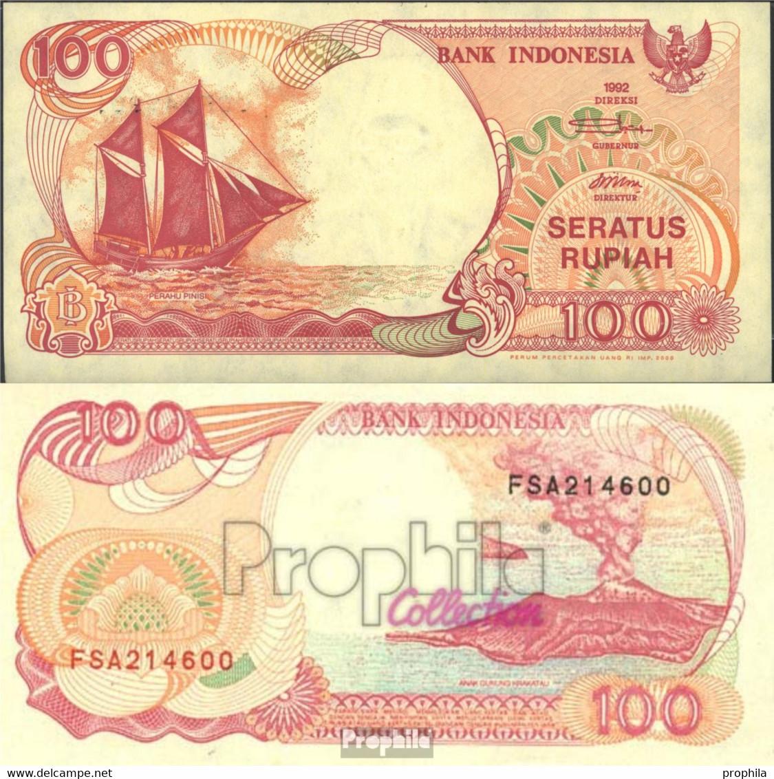 Indonesien Pick-Nr: 127h Bankfrisch 2000 100 Rupiah Segelschiff - Indonesien