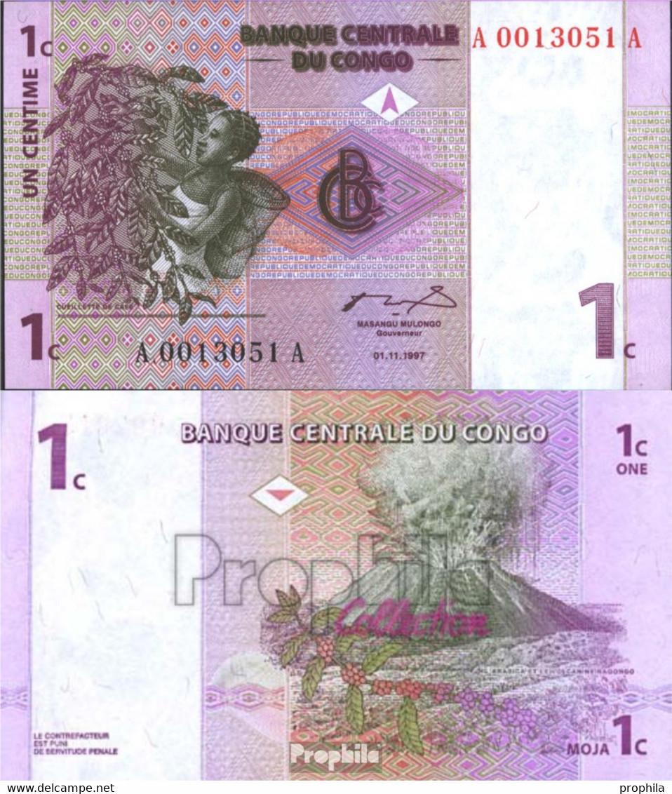 Kongo (Kinshasa) Pick-Nr: 80a Bankfrisch 1997 1 Centime - Zonder Classificatie