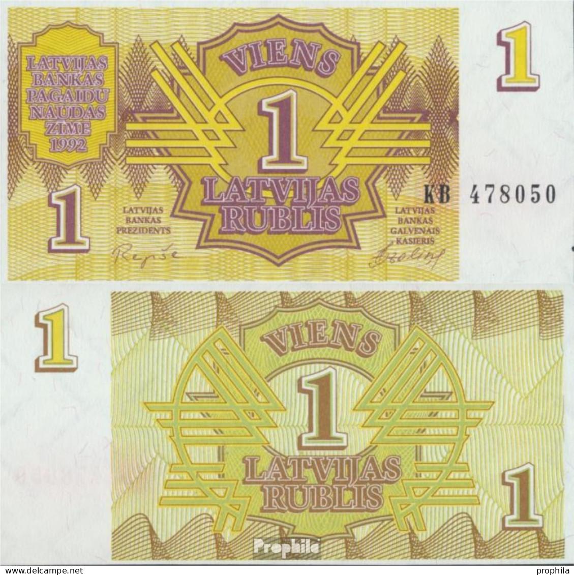 Lettland 35 Bankfrisch 1992 1 Rublis - Lettonie