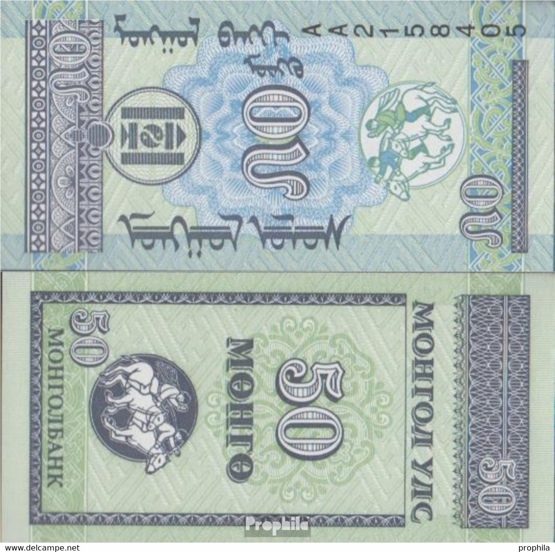 Mongolei Pick-Nr: 51 Bankfrisch 1993 50 Mongo - Mongolia