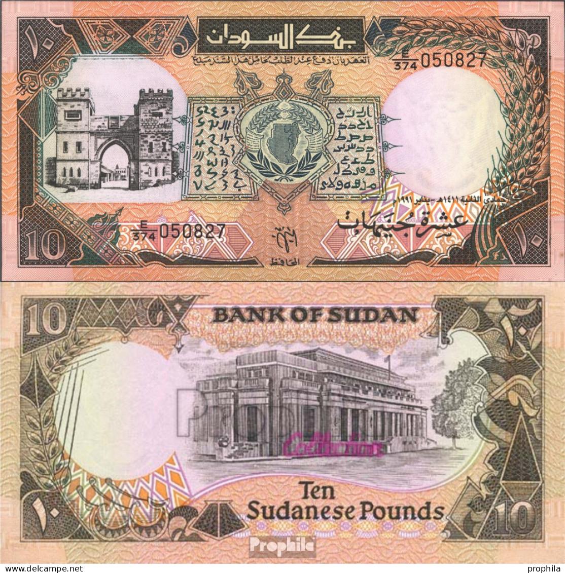 Sudan Pick-Nr: 46 Bankfrisch 1991 10 Pounds - Soudan