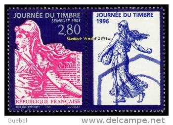 France Philatélie N° 2991 A ** Journée Du Timbre 1996 - Semeuse De Roty + Vignette - Tag Der Briefmarke