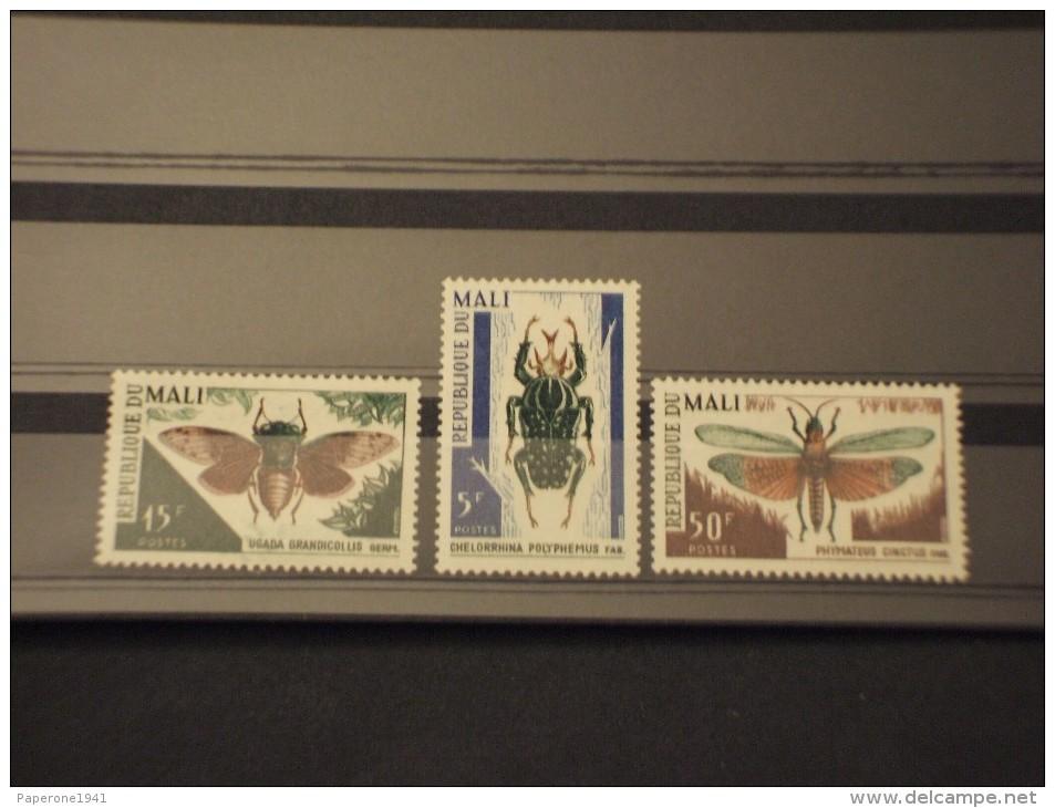 MALI - 1967 INSETTI 3 Valori - NUOVI(++) - Mali (1959-...)