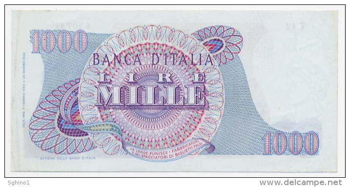 1000 LIRE, DATA EMISS. 04/01/1968 (R3) ITALIA - ITALY (SUP - AU) Firme - Sign. Carli-Pacini - 1000 Lire