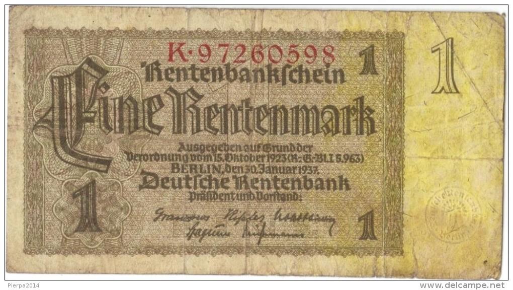 Germany   1  Rentenmark 30 Januar 1937 - Sonstige