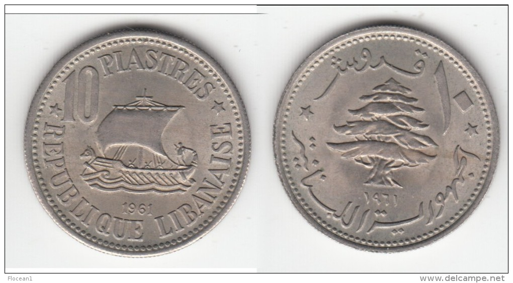 QUALITY **** LIBAN - LEBANON - 10 PIASTRES 1961 **** EN ACHAT IMMEDIAT !!! - Liban