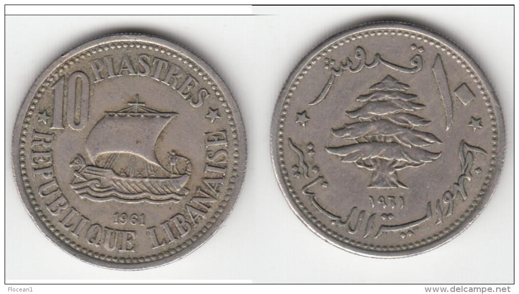 **** LIBAN - LEBANON - 10 PIASTRES 1961 **** EN ACHAT IMMEDIAT !!! - Liban