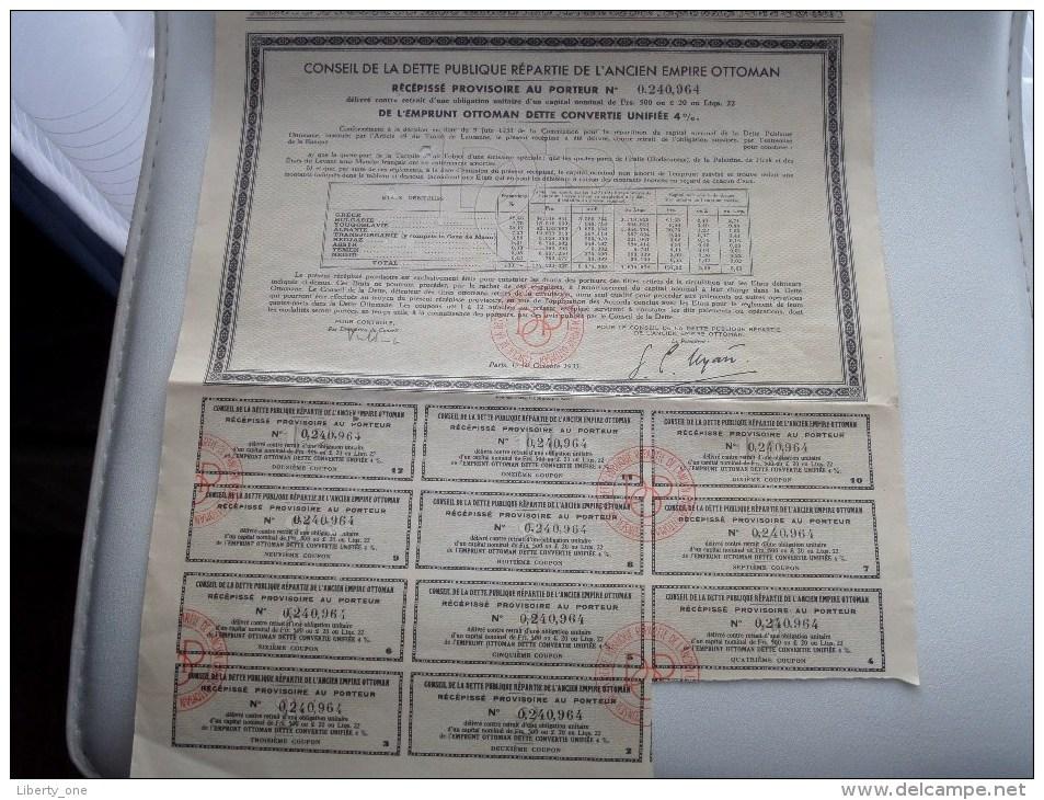 Ancien Empire OTTOMAN Nrs. 0,240,964 / 0,240,965 / 0,240,966 / 0,240,967 - 1933 ( 4 X Voir Photo Pour Detail )! - Asie