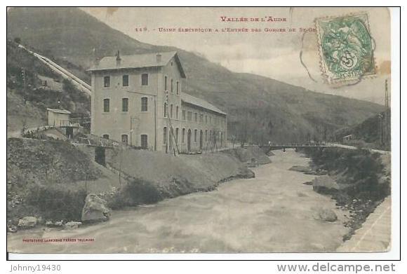 119 - USINE ELECTRIQUE A L'ENTREE DES GORGES DE ST-GEORGES - France