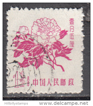 China-prc    Scott No. 389   Used    Year  1958 - Used Stamps