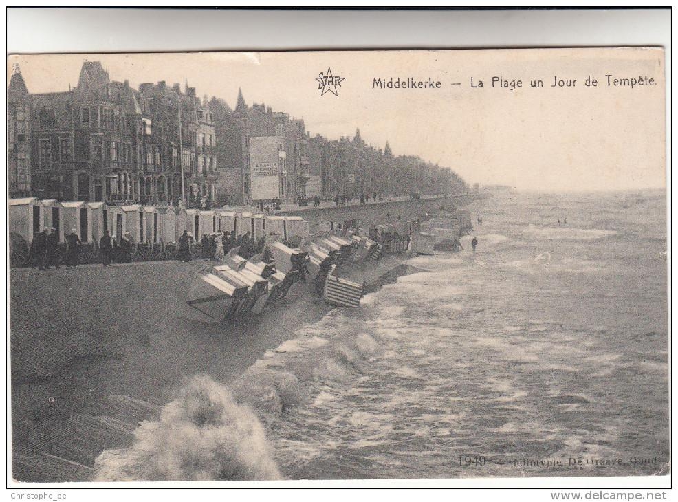 Middelkerke, La Plage Un Jour De Tempete (pk15910) - Middelkerke