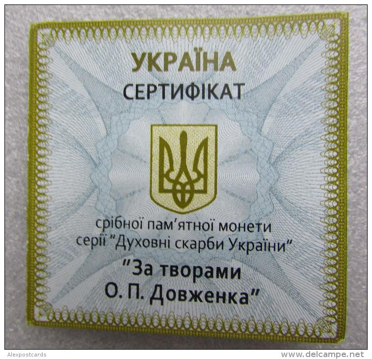 "UKRAINE 2014. SILVER Ag 925 COIN 20 HRYVNIAS ""OLEXANDER DOVZHENKO, CINEMA DIRECTOR, WRITER & FILMMAKER"". PROOF UNC + BOX - Ukraine"