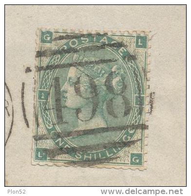 8655-GRANDE FRAMMENTO DI LETTERA AFFRANCATA ONE SHILLING - Storia Postale
