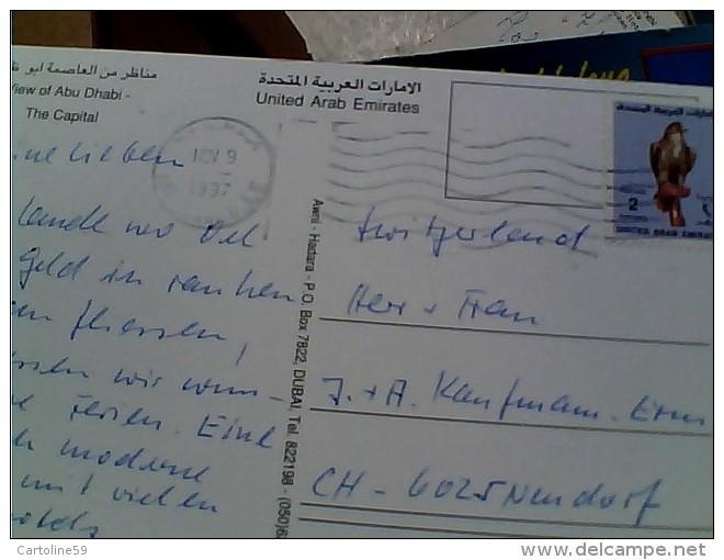 EMIRATI ARABI UNITI ABU DHABI VUES STAMP 2 D. FALCO VB1997 ER14025 - Emirati Arabi Uniti