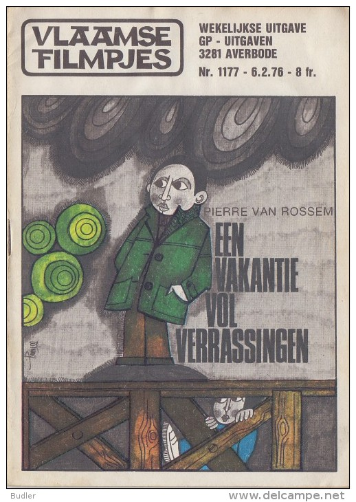 1976: Vlaamse Filmpjes Nr. 1177: ## Een Vakantie Vol Verrassingen ## Door Pierre Van Rossem. - Kids