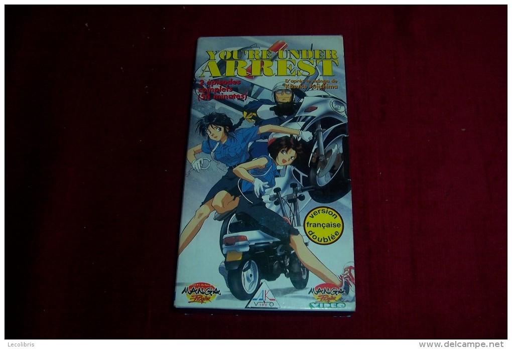 MANGA  VERSION FRANCAISE  °  YOU RE UNDER AREST  °° 2 EPISODES COMPLETS DE 55 MINUTES - Manga