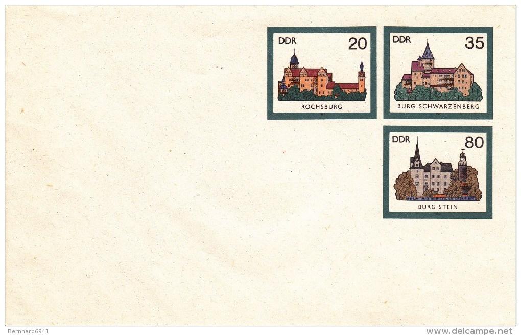 Berliner Katalog U02/1  Blanke Umschlag Mit 20+35+80 Pf - Private Covers - Mint