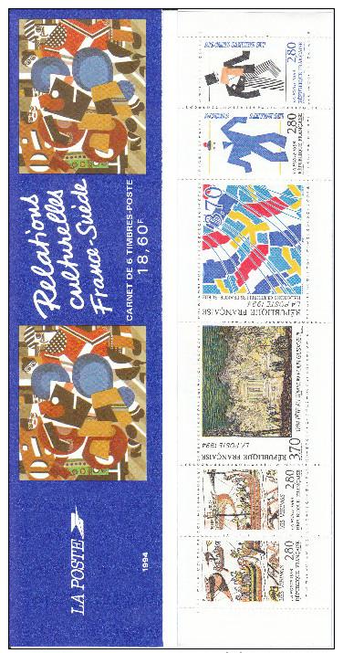 BC2872 Relations Culturelles France-Suède (carnet Neuf Non Plié) - Commémoratifs