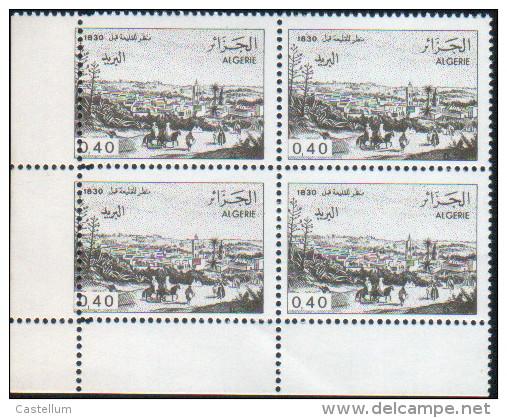 Algérie-bloc De Quatre Neuf  (Yv: 823) Vues D'Algérie - Algérie (1962-...)