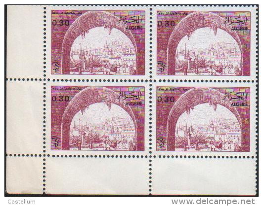 Algérie-bloc De Quatre Neuf  (Yv: 822)-1984-Vues D'Algérie - Algérie (1962-...)