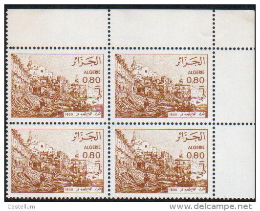 Algérie-bloc De Quatre Neuf  (Yv: 759)-1982-Vues D'Algérie - Algérie (1962-...)