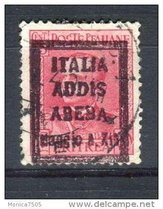 "ETHIOPIE ( ITALIE ) : SURCHARGE  ""ITALIA ADDIS ABEBA 1936 MAGGIO A XIV"" SUR TIMBRE DE L ERYTHREE  OBLITERE , A VOIR . - Etiopía"