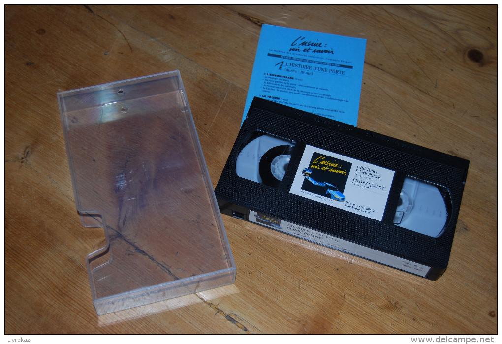 Cassette Video VHS NEUVE Renault, Automobile, Histoire D'une Porte, Emboutissage, Tôlerie, Gestes Qualité, 28 Min. 1992 - Documentaires