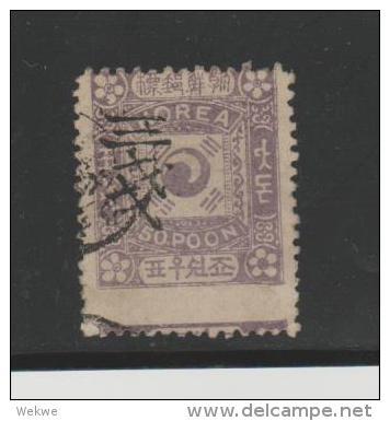 KoiMi.Nr. 31 I, Type II 3 Ch Auf 50 Poon  O - Korea (...-1945)
