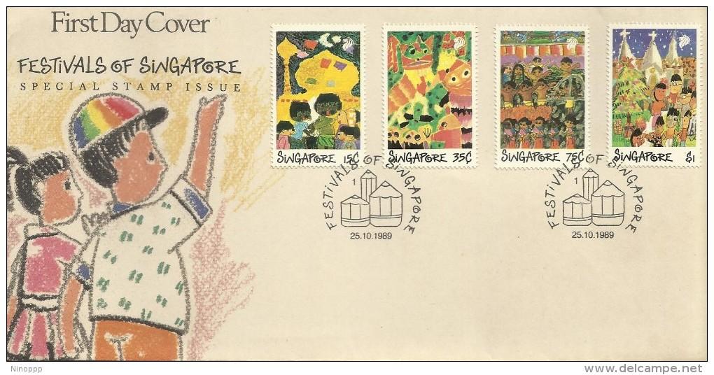 Singapore 1989 Festivals FDC - Singapore (1959-...)