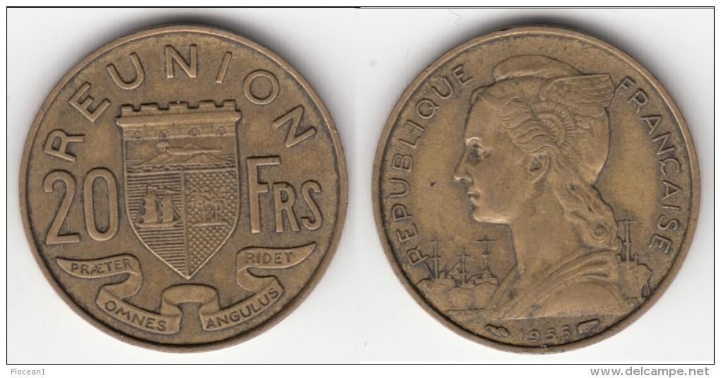**** REUNION - ILE DE LA REUNION - 20 FRANCS 1955 **** EN ACHAT IMMEDIAT !!! - Réunion