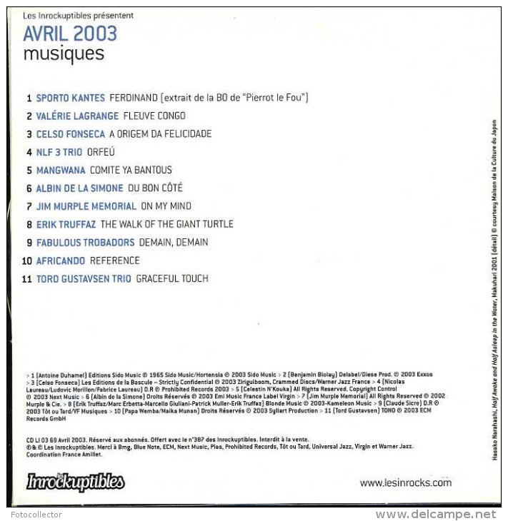 Les Inrockuptibles Musiques Avril 2003 - Hit-Compilations