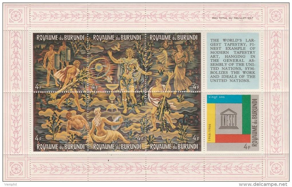 BURUNDI - BLOCS FEUILLETS N° 12- 14 -16  - NEUFS  XX - 1962-69: Neufs