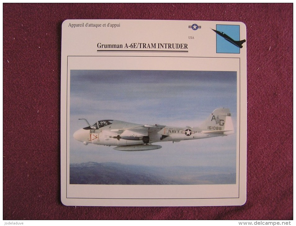 GRUMMAN A6E TRAM Intruder   FICHE AVION Avec Description  Aircraft Aviation - Flugzeuge