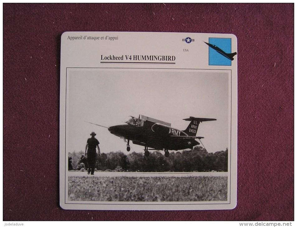 LOCKHEED V4 Hummingbird  FICHE AVION Avec Description  Aircraft Aviation - Flugzeuge