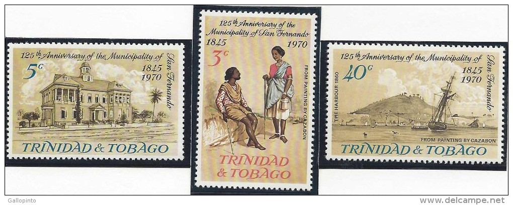 TRINIDAD & TOBAGO 125th ANNIV Of The MUNICIPALITY Of SAN FERNANDO MNH 1970 - Trinidad & Tobago (1962-...)