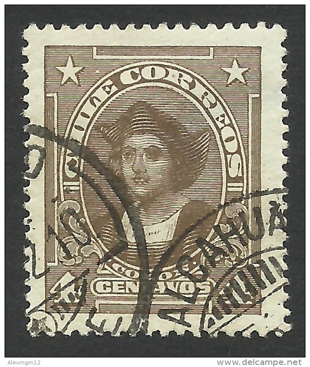 Chile, 4 C. 1918, Sc # 144, Mi # 121, Used - Chile