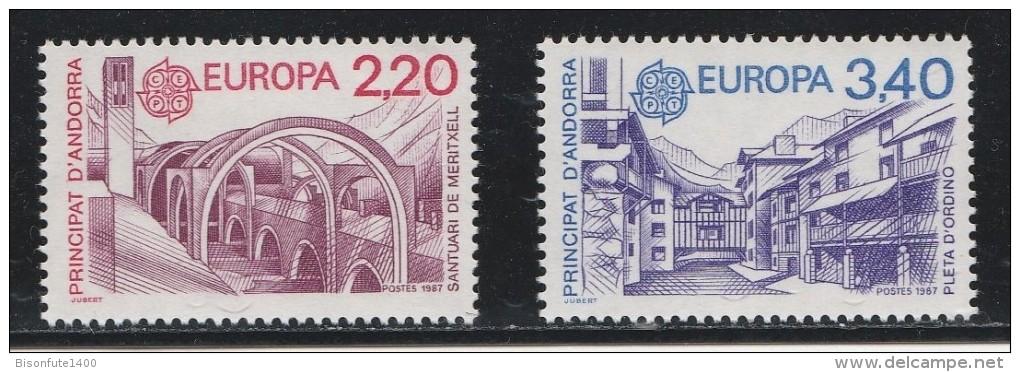 Andorre Français 1987 - Timbres Yvert & Tellier N ° 358 Et 359 - Unused Stamps