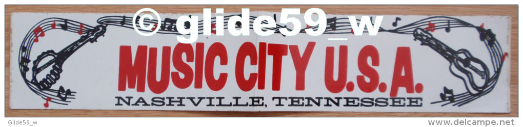 Autocollant - MUSIC CITY U.S.A. - Nashville, Tennessee - Stickers