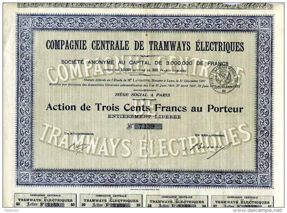 COMPAGNIE CENTRALE De TRAMWAYS ÉLECTRIQUES - Chemin De Fer & Tramway