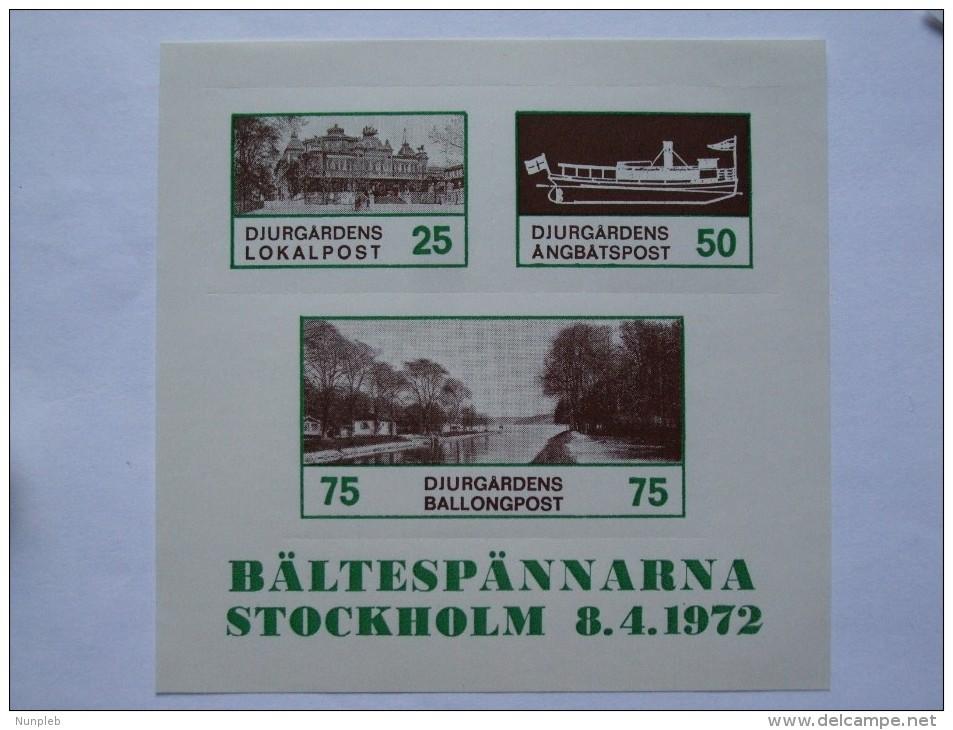 SWEDEN BALTESPANNARNA STOCKHOLM 8.4.1972 - Briefe U. Dokumente