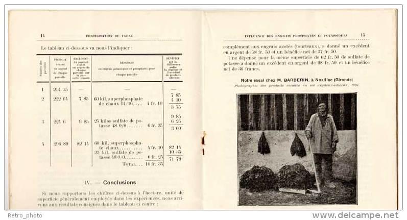 Livre Sur La Fertilisation Du Tabac / Trichereau Ingénieur Agronome ( La Réole ) - Livres, BD, Revues