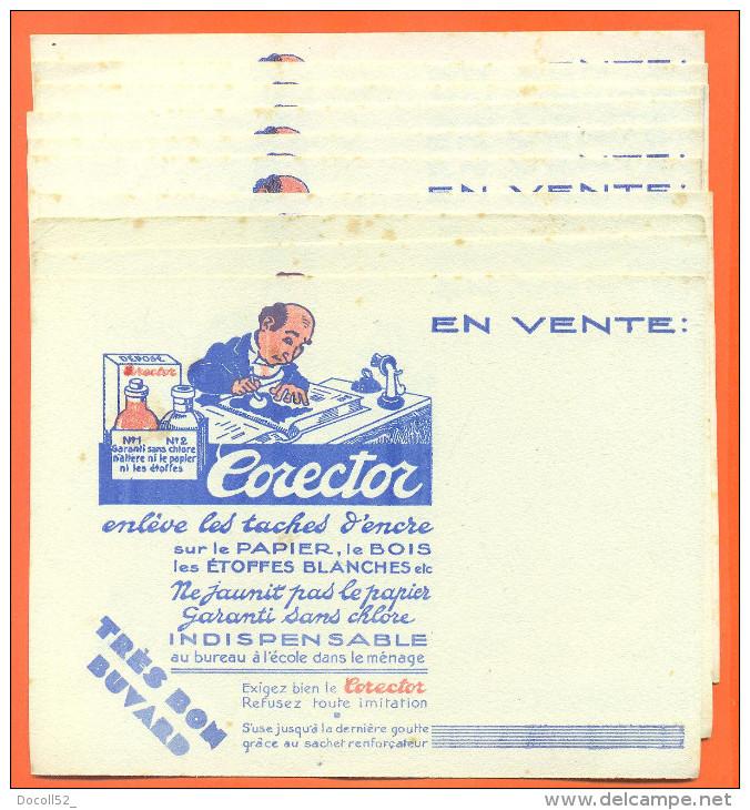 "Lot De 10 Buvards Anciens ""  Corector  "" - Papel Secante"