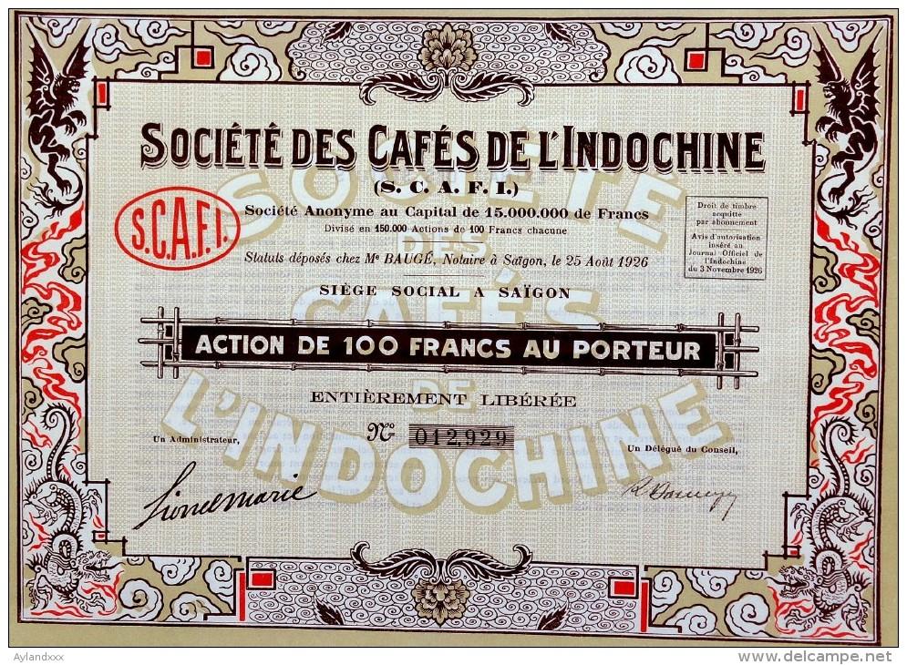 Société Des Cafés De L´Indochine - Asie