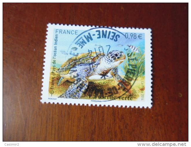 OBLITERATION RONDE  SUR TIMBRE GOMME ORIGINE YVERT N° 4903...tortue Verte - Frankreich
