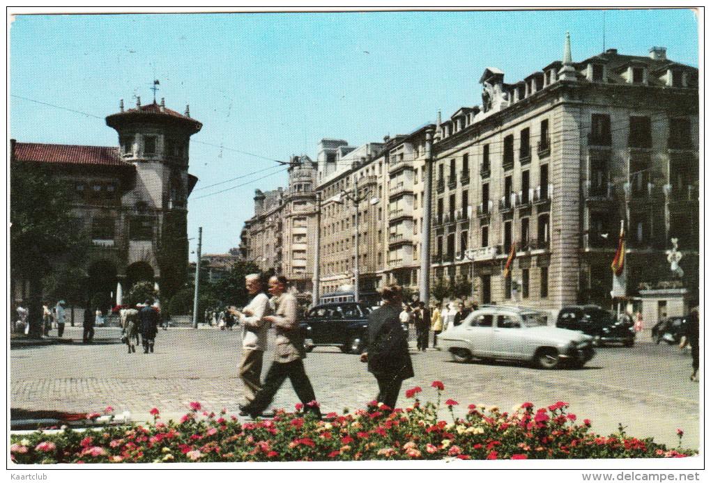 Santander:  SIMCA ARONDE 1300, OLDTIMER CARS - Avenida De Calvo Sotelo - Espana/Spain - Passenger Cars