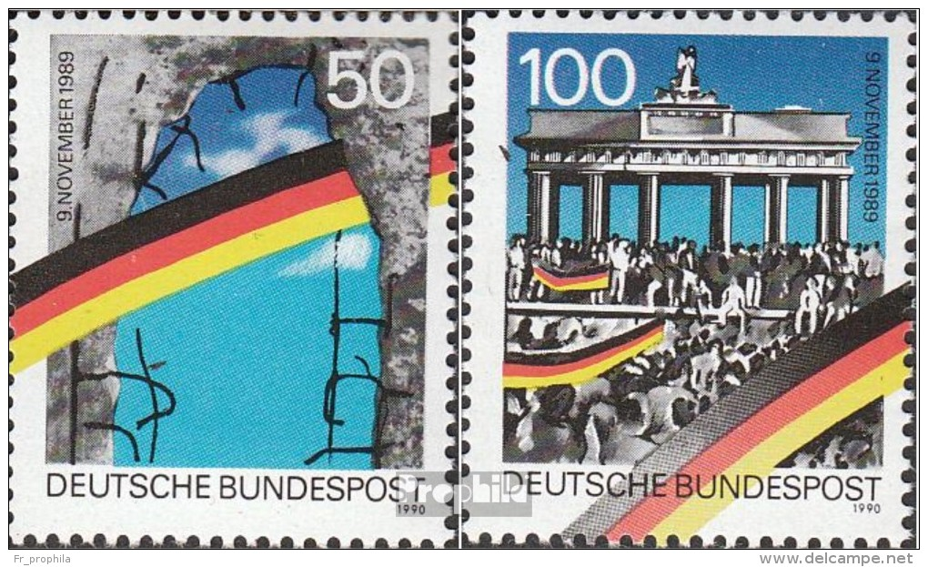 RFA (FR.Allemagne) 1481II-1482II (complète.Edition.) Bloc De Timbres Individuels Oblitéré 1990 Cas Le Mur - BRD