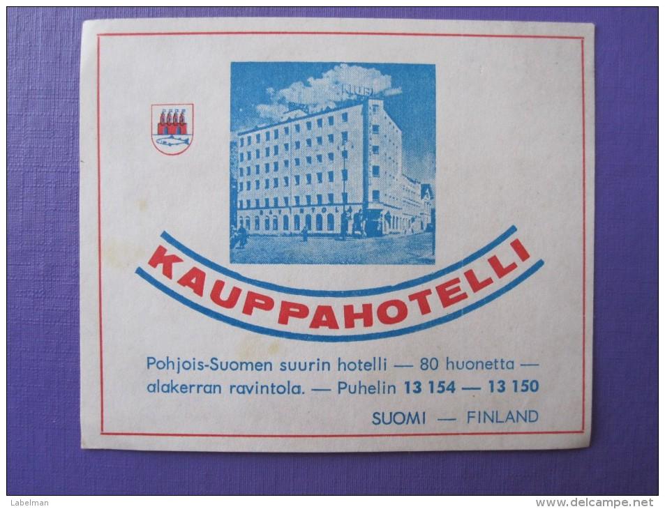 HOTEL HOTELLI HOTELLET HOSPIZ KAUPPA ALAKERRAN HELSINKI FINLAND SUOMI MINI DECAL LUGGAGE LABEL ETIQUETTE AUFKLEBER - Hotel Labels