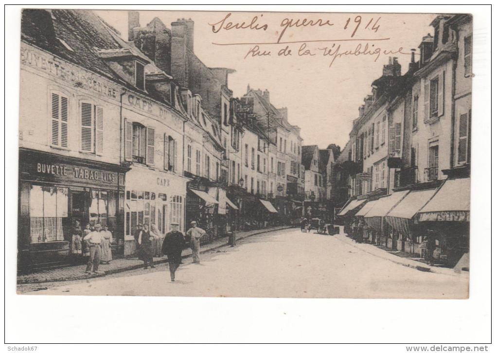 Belle Carte Animée De Senlis De 1918 - Senlis