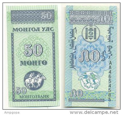 Mongolia 50 Mongo 1993 Pick-51 UNC - Mongolia