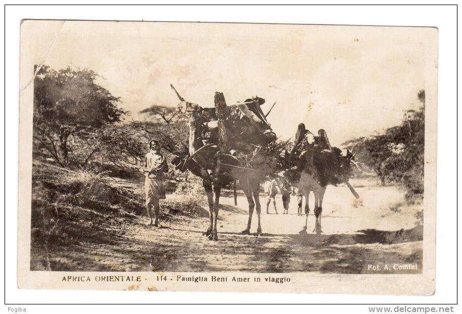 BT97   AFRICA ORIENTALE SOMALIA  - Famiglia Beni Amer In Viaggio,  Famille Beni Amer Voyage - Vg. 1936 - Somalia